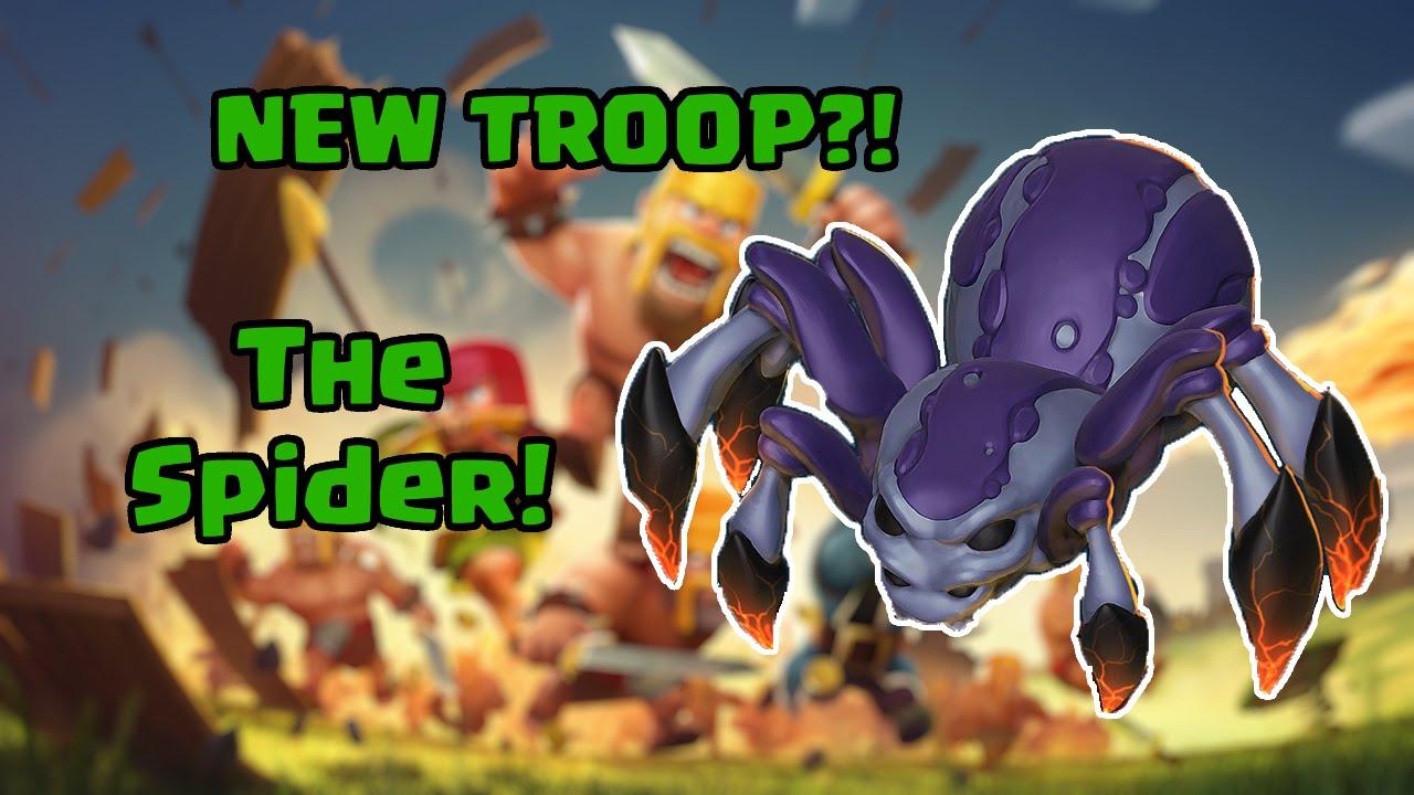 Clash of Clans - NEW TROOP?! - SPIDER! - Rumored Troops #1