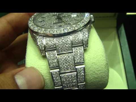 Mr Chris Da Jeweler Real Diamond Rolex 32 Carat Date Just 41mm (Video No : W03964)