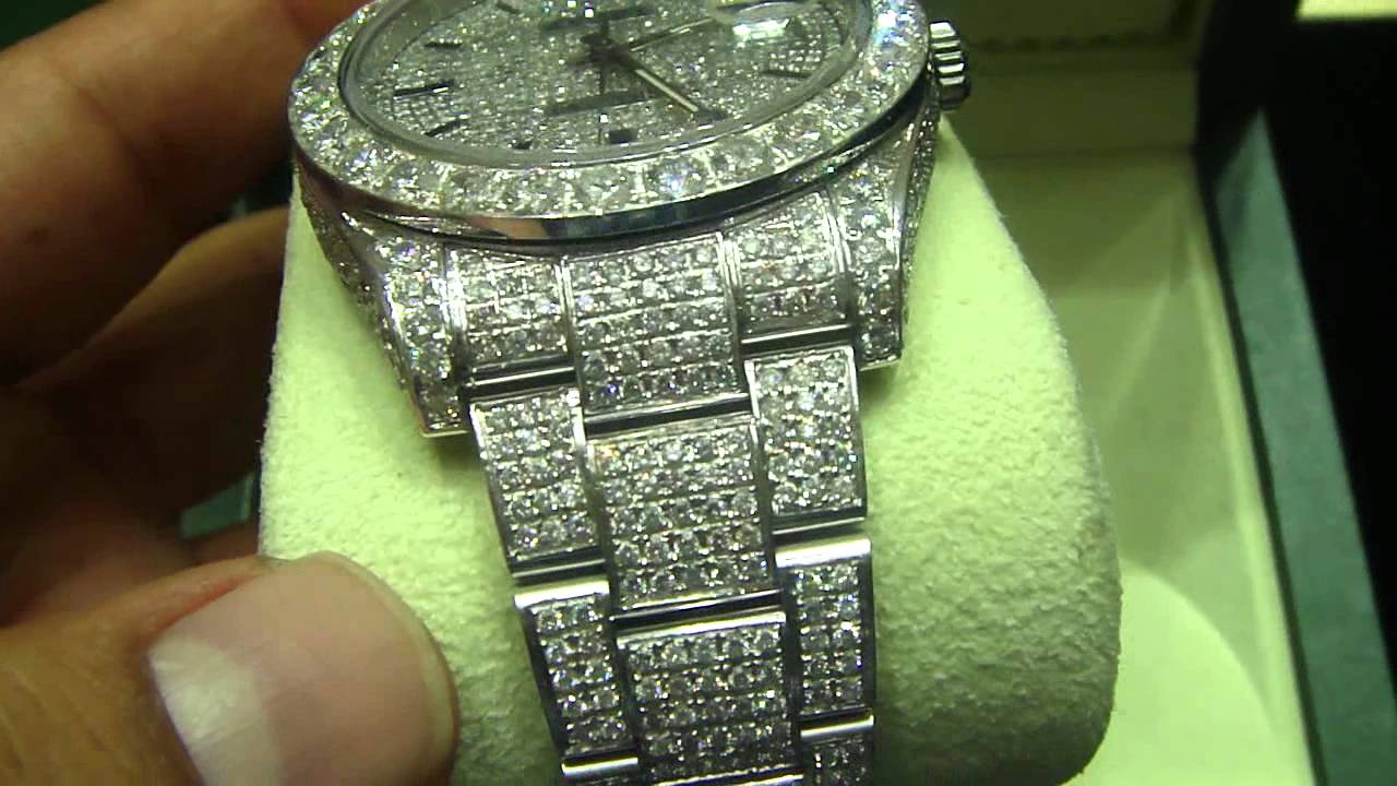 Mr Chris Da Jeweler Real Diamond Rolex 32 Carat Date Just 41mm Video No W03964