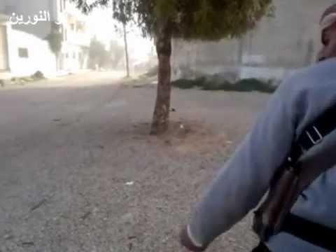 كتيبة ذو النورين تستهدف دبابة ت72  (5-4-2012