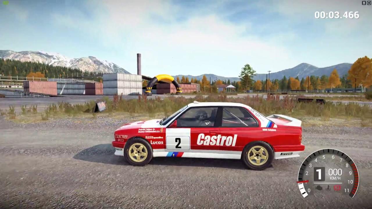 Dirt 4 Bmw E30 M3 Evo Rally 1988 Free Roam Historic Rally H3 Rwd Crash Test