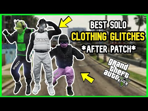 TOP 5 SOLO GTA CLOTHING GLITCHES AFTER PATCH! - GTA MODDED OUTFIT GLITCHES! (GTA CLOTHES GLITCHES)