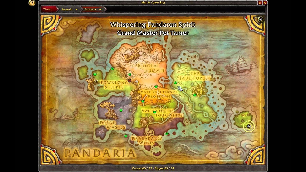 Draenor Map mall at millenia map cmc map