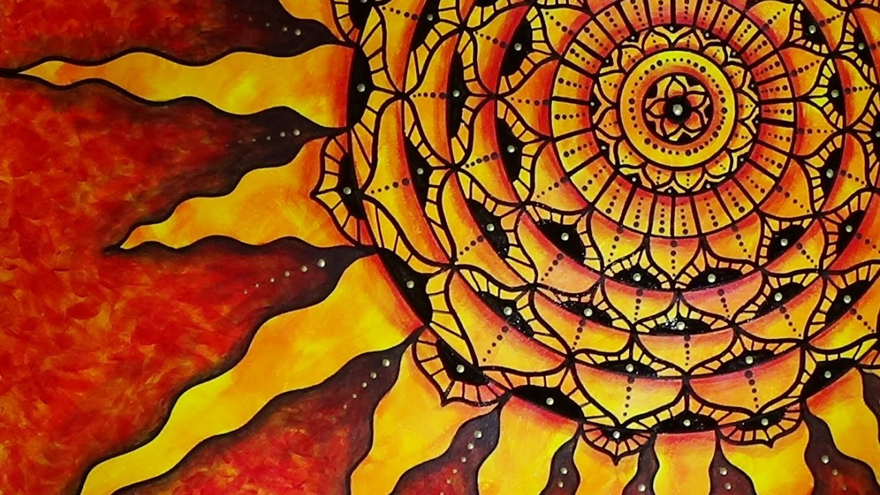 Zentangle Oil Painting
