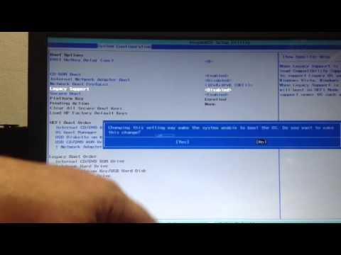 Remover proteção de boot no Notbook Hp 1000