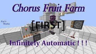 [FIRST!] Chorus Fruit Farm- Infinitely Automatic! Minecraft 15w31a | Ray