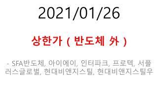 2021/01/26 상한가 - SFA반도체, 아이에이,…