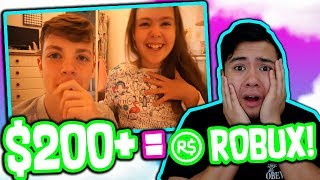 BROTHERS BUY THEIR SISTERS ROBUX!!! ($200+ SPENT) *EMOTIONAL*