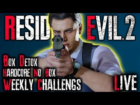 WEEKLY CHALLENGES – NO BOX HARDCORE | Resident Evil 2 Remake LIVE – RE2 PS4 Pro