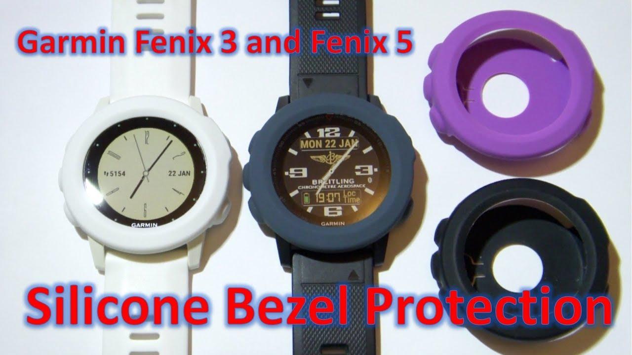 Garmin Fenix 3 , Fenix 5 and Fenix 5X Silicone Bezel Protection Covers