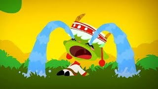 Гора самоцветов - Петушок и кошечка  + Лягушка и муравьи - Развивающий мультфильм для детей