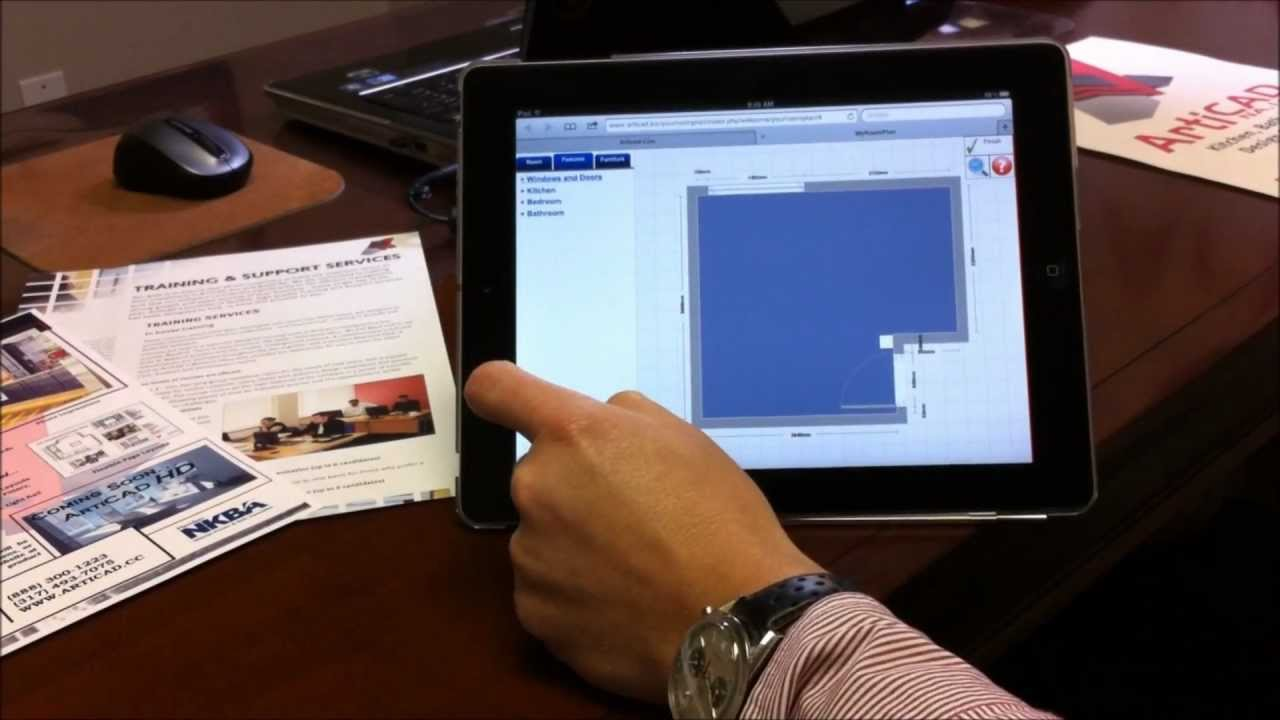 design a bathroom on an ipad with my room plan from bathcad youtube