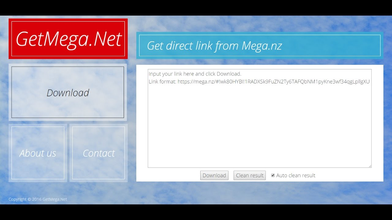 How to get direct link from Mega nz [GetMega net] - YouTube