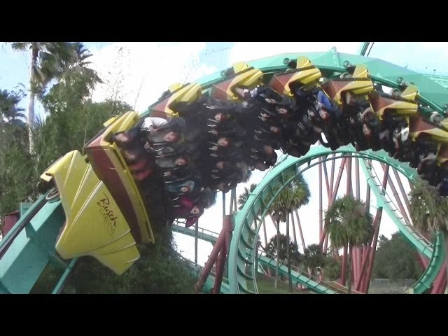 Kumba off-ride HD Busch Gardens Tampa Travel Video