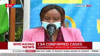 Gender distribution,new 134 COVID-19 cases,51 discharged,Breaking News,COVID-19 in Kenya,National ta