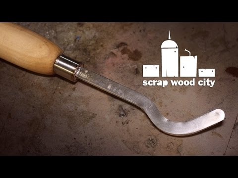 DIY swan neck wood turning hollowing tool from an old file