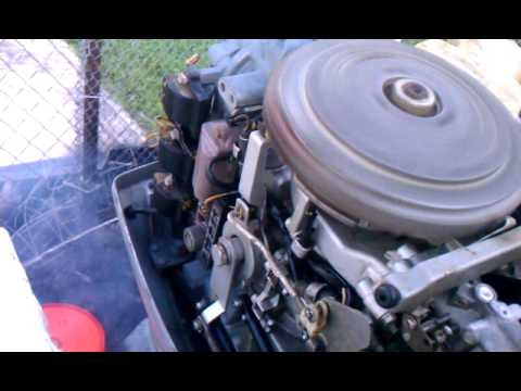 making adjustments to idle speed on a 70hp Evinrud