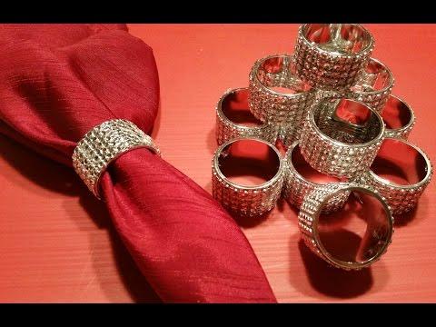 DIY  BLING BLING Napkins Rings!!!