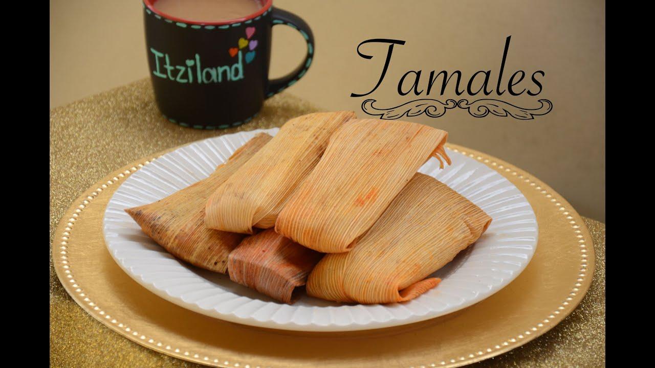 Tamales Rojos y Verdes de Pollo y Tamales de Queso Receta Familiar ...