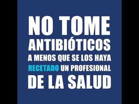 OMS: No tome antibióticos a menos que se los haya recetado un profesional de la salud.