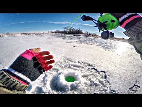 Ice Fishing In BELOW ZERO Conditions!!! (FREAK OUT)