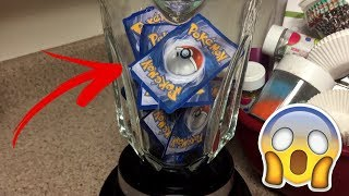 WHAT HAPPENS WHEN YOU BLEND POKEMON CARDS IN A BLENDER!