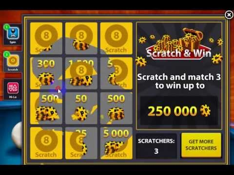 8 ball pool scratch and win hack