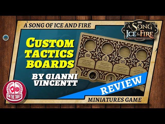 Custom ASOIAF TMG Tactics Board from Gianni Vincentt