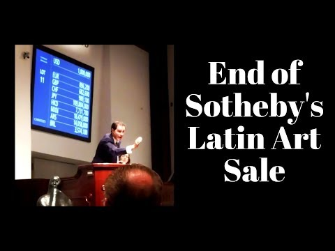 The End of Sotheby's Latin American Art Auction
