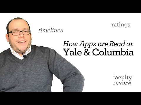 How Applications Are Read: Yale Vs. Columbia Law Schools