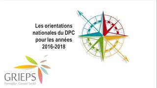DPC 2.0 - Nouvelles orientations DPC 2016-2018