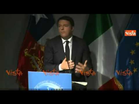 RENZI: CILE E ITALIA UNITE NELLO SCRIVERE NUOVE PAGINE PER EUROPA E SUD AMERICA