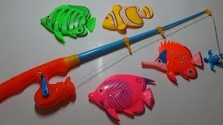 """Обзор игрушек.Рыбки с удочкой """"Fishing song."""""""