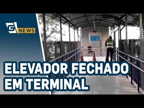 Idoso reclama de elevador em terminal de ônibus