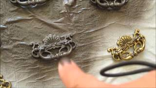 Spray Painting Hardware ~ Revamping Bedroom Furniture