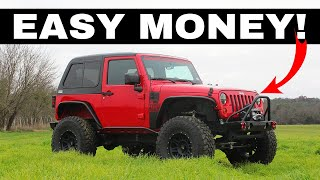 CHEAP JEEP WRANGLER BUY, BUILD, PROFIT!