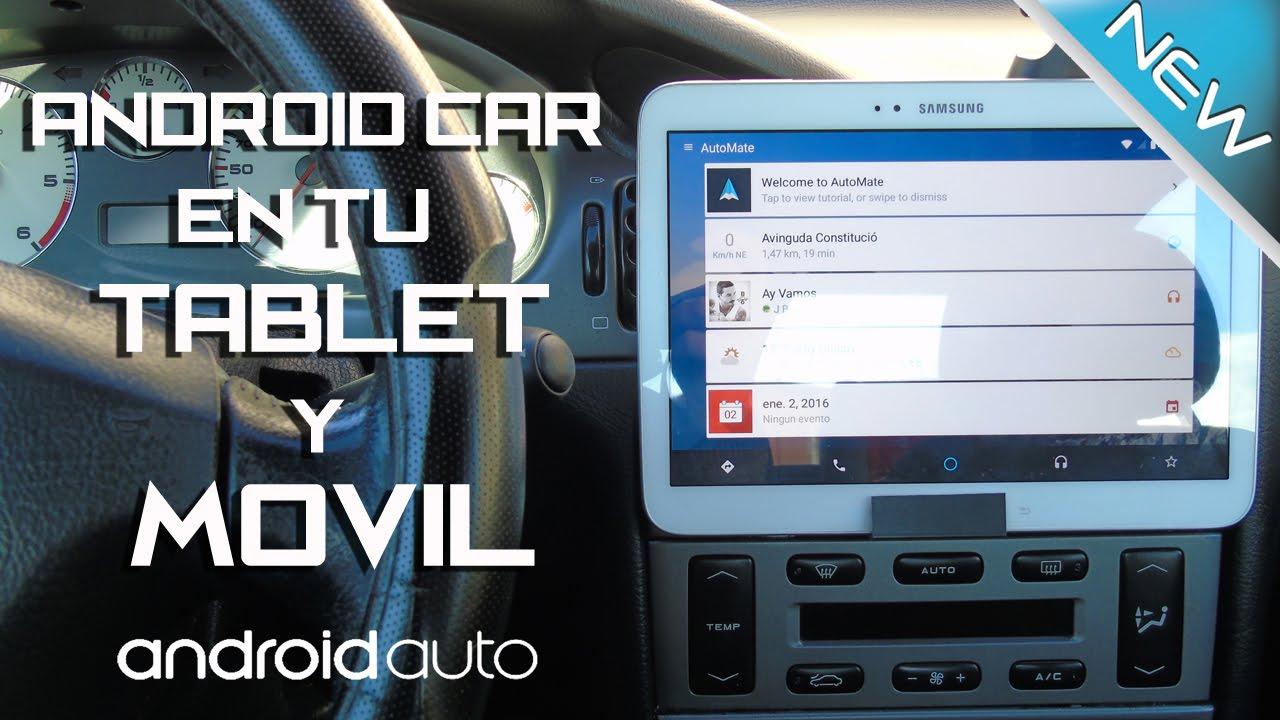 android auto car tablet movil sin gastar dinero. Black Bedroom Furniture Sets. Home Design Ideas