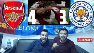 LIVE REACTION: ARSENAL DEFEATS LEICESTER AFTER CRAZY HISTORICAL COMEBACK 4-3