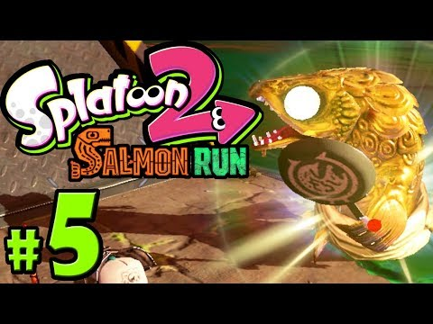 Splatoon 2 - Salmon Run PART 5 - Nintendo Switch Gameplay Walkthrough - Goldie + Salmon Rush Wave