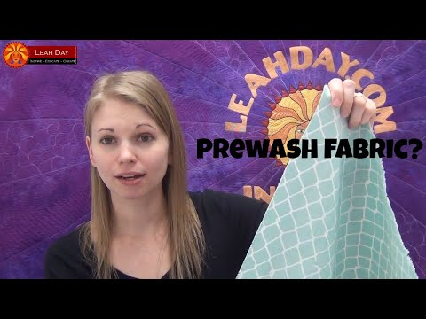 Do You Prewash Fabric for Quilting? Great Quilting Debate with Leah Day, Podcast Episode #36