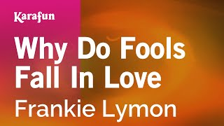Karaoke Why Do Fools Fall In Love - Frankie Lymon *