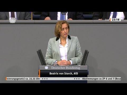 """Bundestag. """"Kein Geld für Polizisten aber Geld für GenderGaga"""" Beatrix von Storch AfD 24.10.2019"""