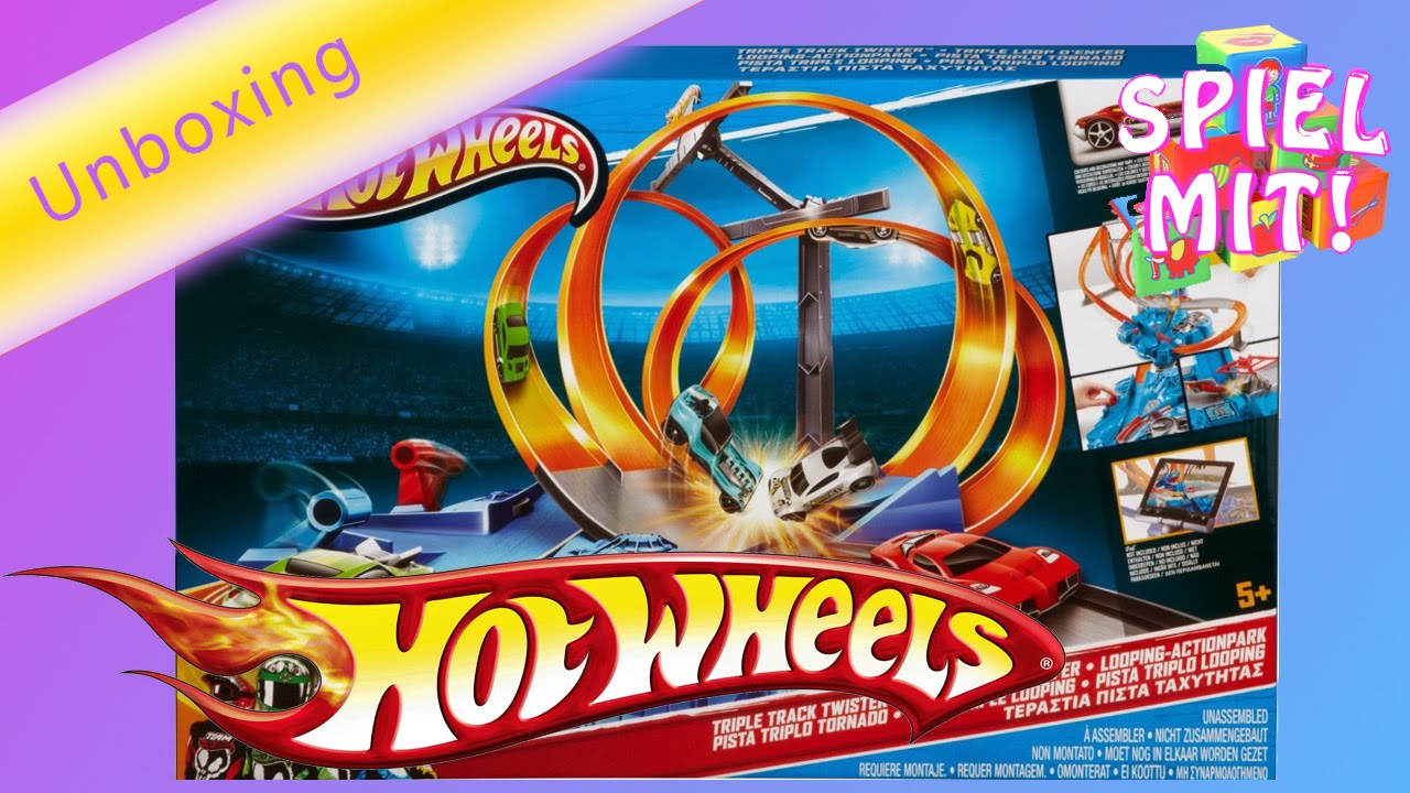 Hot wheels deutsch triple track twister unboxing
