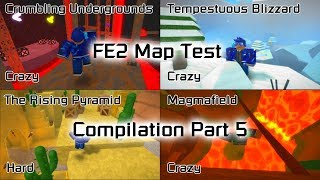 Roblox | Flood Escape 2 Map Test Compilation (Part 5)