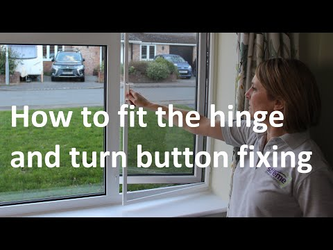 Fitting your fly screen in place - YouTube