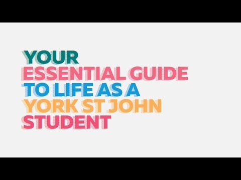 Your essential guide to life as a York St John student
