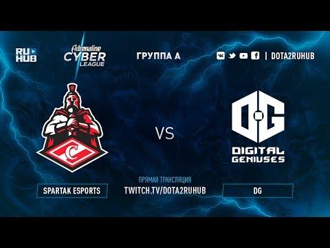Spartak Esports vs DG, Adrenaline Cyber League, game 1 [Autodestruction, Mortalles]