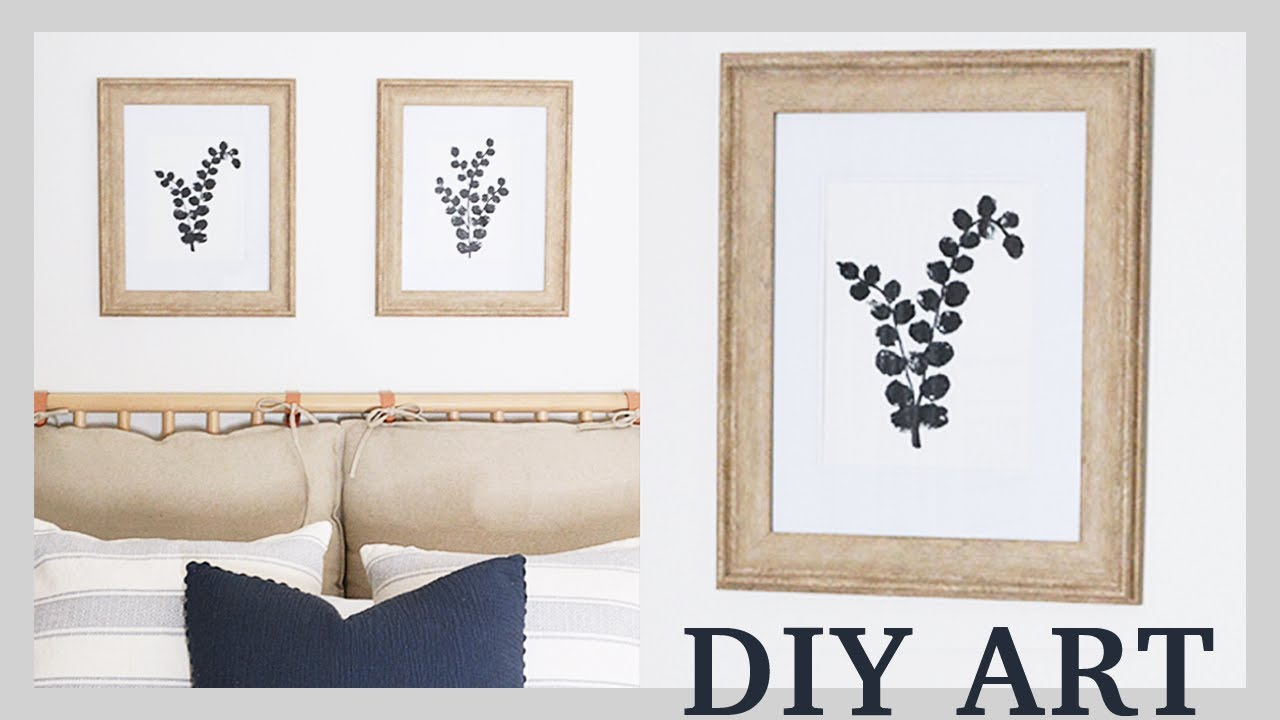 Modern Farmhouse Decor Easy Diy Wall Art Tutorial Youtube