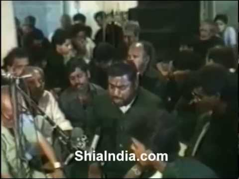 1990 at Hussaini Kothi 8th Muharram Mir Fateh Ali Afsar - Marsiya