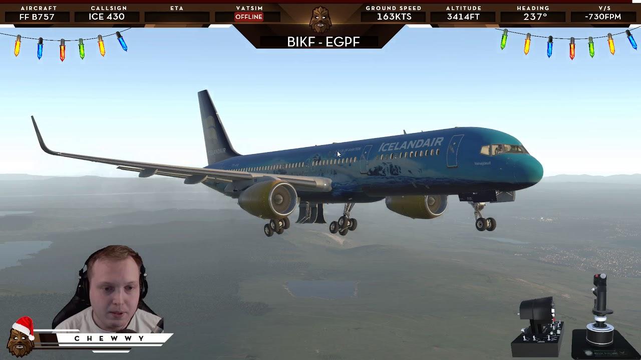 [XP11] First Flight in a Boeing 757 | FlightFactor 757 Icelandair at EGPF